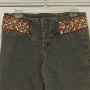 EXPRESS embellished Boho Denim Jeans gray